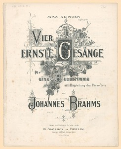 Brahms op.121 copertina