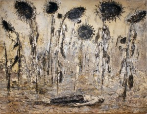ANSELM KIEFER, <em>The Orders of the Night (Die Orden der Nacht)</em>, 1996Emulsion, acrylic, and shellac on canvas140 1/5 × 182 3/10 in356 × 463 cm
