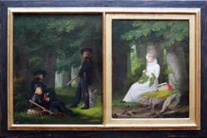 GEORG FRIEDRICH KERSTING, <em>Auf Vorposten - Die Kranzwinderin</em>, 1815