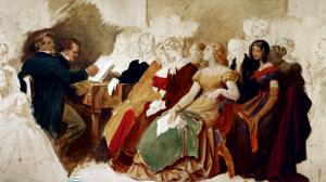 MORITZ VON SCHWIND,  <em>Schubertiade a casa von Spaun</em>, 1868 ca.