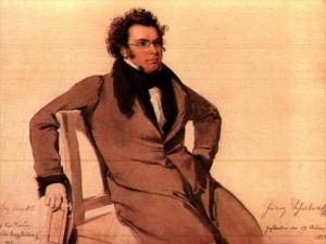 <strong>Wilhelm August Rieder</strong>, <em>Ritratto di Franz Schubert</em>, 1825. Acquerello