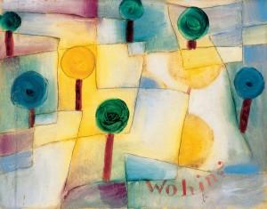 PAUL KLEE, <em>Wohin? Junger Garten</em>, 1920