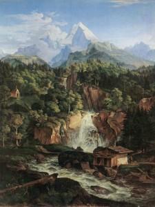 LUDWIG RICHTER,<em>Der Watzmann</em>, 1824. Olio su tela, 121,0 x 93,5 cm. Münchener Neuen Pinakothek.